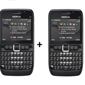 Nokia E63 Mobile Combo Pack of 2 Refurbished Qwerty Keypad Phone