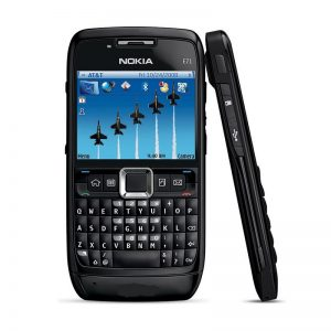 Nokia E71 Black Qwerty Keypad Mobile Refurbished Black