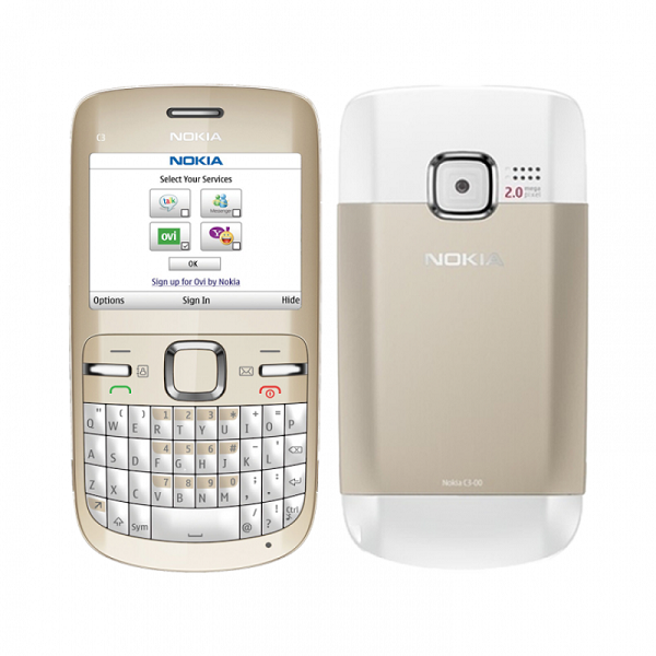 Nokia C3-00 Qwerty Keypad Phone (Gold) Refurbished