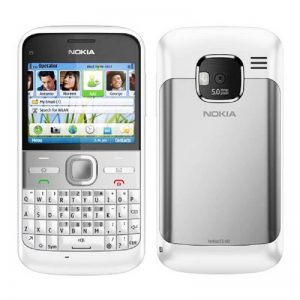 Nokia E5 Qwerty Keypad Phone White ( Imported New ) 1 Year Seller Warranty