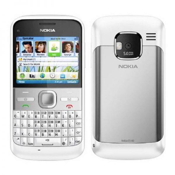 Nokia E5 Qwerty Keypad Phone White ( Imported New ) 1 Year Seller Warranty