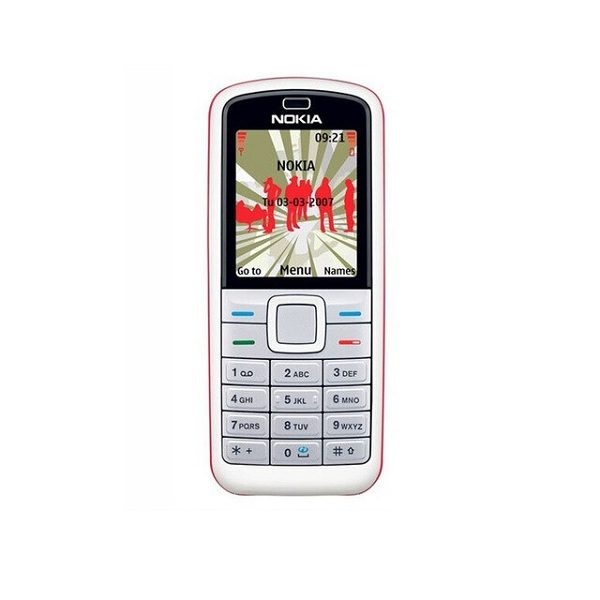 Nokia 5070 Red Keypad Mobile Refurbished