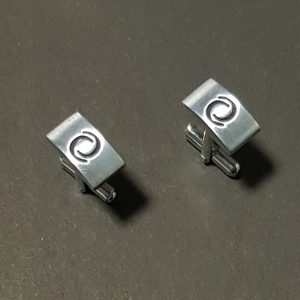 Silver Metal Cuff links For Executive Shirts - Pair For Men Shirts
