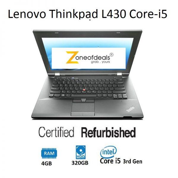 Refurbished Lenovo Thinkpad L430 Core-i5 3rd Gen Laptop 4GB Ram, 320GB 14inch