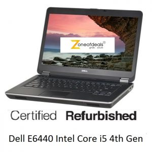 Refurbished Dell Latitude E6440 Laptop Intel Core i5 4th Gen 4GB 500GB 14inch