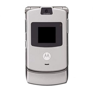 Full Body Housing for Motorola RAZR V3 Silver With Display Keypad Patta Camera