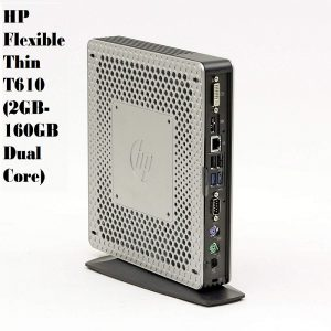 Refurbished HP Flexible Thin T610 (2GB-160GB Dual Core) Very Small Size Desktop