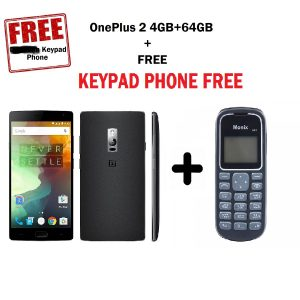 Combo Offer - OnePlus 2 (Sandstone Black, 64GB) Refurbished + A Keypad Phone