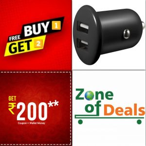 Buy 1 Get 2 Free - ZODE®USB Car Mobile Charger